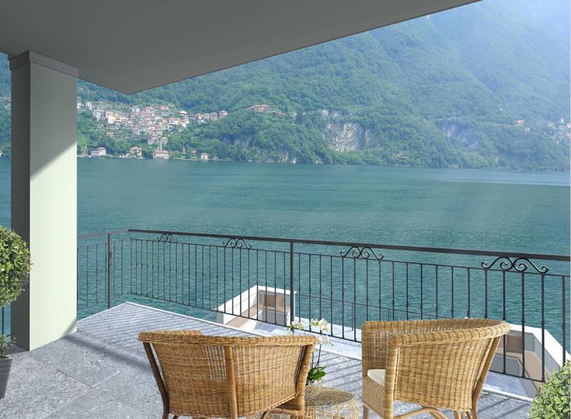 terrazzo della villa sul lago di como